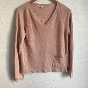 Eileen Fisher Light Pink Chunky Knit Sweater sz S